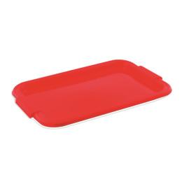 Пластик центр поднос итальянский, красный