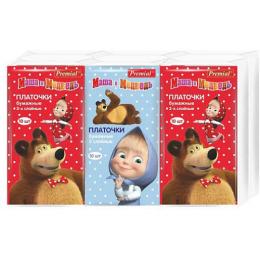 """Premial бумажные платочки """"Маша и Медведь"""""""