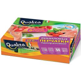 Qualita перчатки виниловые в коробке