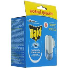Raid фумигатор с жидкостью 30 ночей + 100 часов