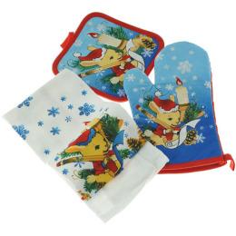 """Bonita набор прихватка + рукавица + полотенце """"С Новым Годом!"""" в коробке"""