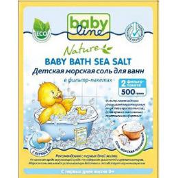 """Babyline морская соль для ванн """"Натуральная"""" детская в фильтр-пакетах, 500 г"""