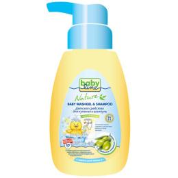 """Babyline средство для купания и шампунь """"С маслом оливы для детей. С первых дней жизни"""" с дозатором, 250 мл"""