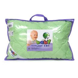 "Мягкий сон подушка детская ""Бамбук"" 40х60 см, зеленая"