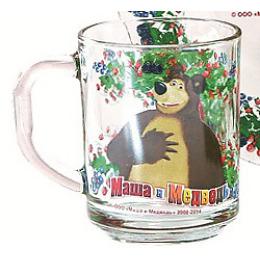 "Мфк кружка ""Маша и медведь. Малина"" 250 мл"