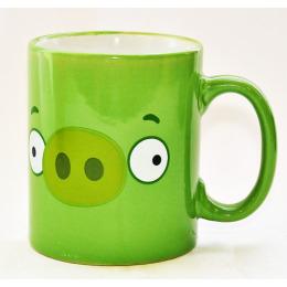 """Мфк кружка керамическая """"Angry Birds. Зеленая свинья"""" 300 мл"""