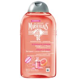 """Le Petit Marseillais шампунь для тонких волос """"Объём и Блеск. Экстракт трех цветов и Грейпфрут"""""""
