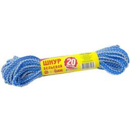 Хозяюшка Мила шнур бельевой D-4 мм L-20 м цветной