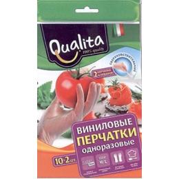 Qualita перчатки виниловые
