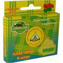 Chameleon пластины противомольные в коробке герань