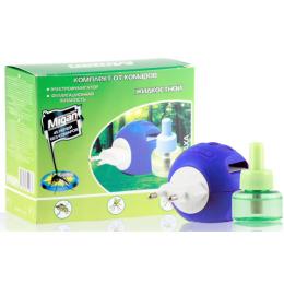 Migan жидкостной комплект от комаров 45 ночей прибор 50 мл + дополнительный флакон, 30 мл