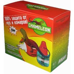 Chameleon жидкостной комплект от мух и комаров 45 ночей фумигатор дополнительный флакон