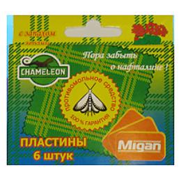 """Chameleon комплект для уничтожения моли и ее личинок """"Герань"""" 6 инсектицидных пластин кассета действие до 5 месяцев"""
