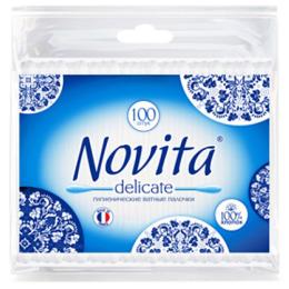"""Novita ватные палочки """"Delicate"""" в полиэтиленовом пакете"""