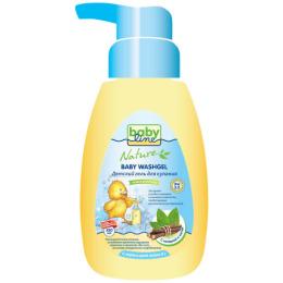 """Babyline гель для купания """"С мятой и солодкой"""" для детей с первых дней жизни с дозатором, 260 мл"""