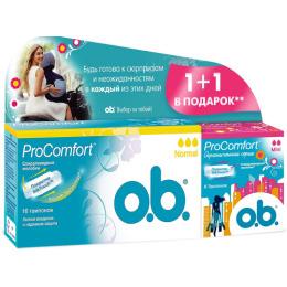 "o.b. тампоны ""ProComfort. Normal 16 шт + тампоны ""ProComfort. Мини"" 8 шт"