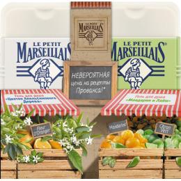 """Le Petit Marseillais гель для душа """"Цветок апельсинового дерева"""" 250 мл + гель для душа """"Мандарин и лайм"""" 250 мл"""