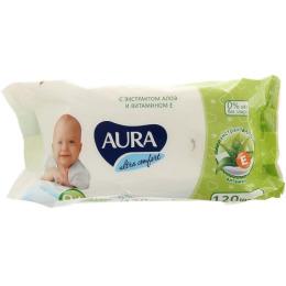 """Aura влажные салфетки для детей """"Ultra Comfort"""" с экстрактом алоэ и витамином Е"""