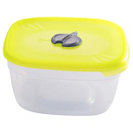 Пластик центр емкость прямоугольная для СВЧ с паровыпускным клапаном 1,6 л, лимон