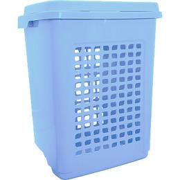 Пластик центр корзина для белья 65 л, голубой пастельный