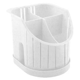 Пластик центр сушилка для столовых приборов 4х-секционная, мраморный
