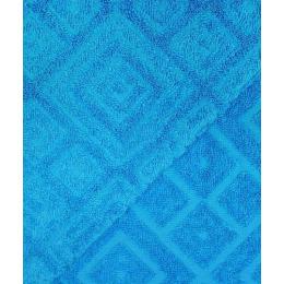 "Ituma полотенце махровое жаккард 70х140 см ""Голубой атолл"" рисунок 1"