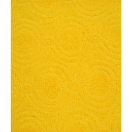 "Ituma полотенце махровое жаккард 70х140 см ""Средний желтый"" рисунок 4"