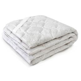 Мягкий сон наматрацник стеганый всесезонный, хлопок овечья шерсть 90х200 см, Белое на бежевом