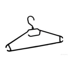 Пластик центр вешалка-плечики для легкой одежды 52-54 Черный 3шт