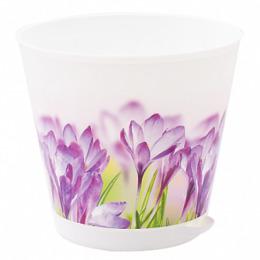"""InGreen горшок для цветов """"Крит. Цветы"""" d 120 мм с системой прикорневого полива 0.7 л"""