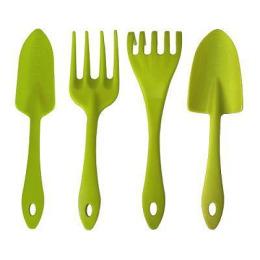 InGreen набор садовых инструментов - лопатка, совок для пересадки, грабельки, вилка для рыхления