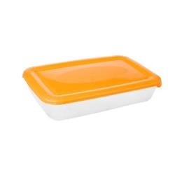 """Plast Team емкость для хранения пищевых продуктов """"Polar"""" прямоугольная 0.45 л, персиковый"""
