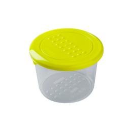 """Plast Team емкость для хранения продуктов """"Pattern"""" круглая 0.8 л, лаймовый"""