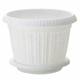 InGreen горшок для цветов Таити диаметр 200 мм с подставкой №4 мраморный