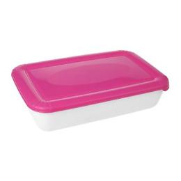 """Plast Team емкость для СВЧ и хранения продуктов """"Polar micro wave"""" прямоугольная 1,9 л, светло-розовый"""