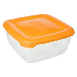 """Plast Team емкость для хранения пищевых продуктов """"Polar"""" квадратная 0,46 л, персиковый"""