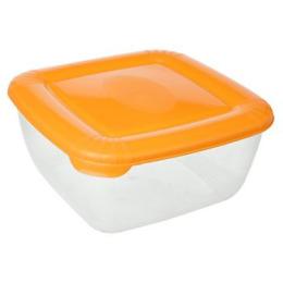 """Plast Team емкость для хранения пищевых продуктов """"Polar"""" квадратная 2.5 л, персиковый"""