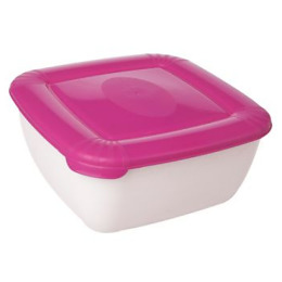 """Plast Team емкость для СВЧ и хранения продуктов """"Polar micro wave"""" квадратная 1.5 л, светло-розовый"""