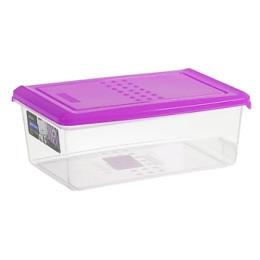 """Plast Team емкость для хранения продуктов """"Pattern"""" прямоугольная 1.05 л, сиреневый"""