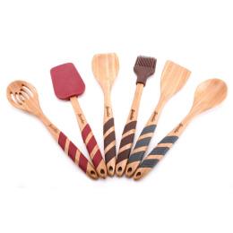 Smakfest набор кухонных принадлежностей 6 предметов 30.5 х 6.5 х 17.1 см бамбук, силикон