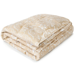 """7 Перин одеяло """"Маки"""" облегченное, овечья шерсть 172х205"""
