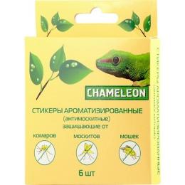 Chameleon стикеры ароматизированные-антимоскитные защищающие от комаров, москитов, мошек 6 шт