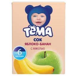 """Тема сок """"Яблоко-банан"""" с 6 месяцев, 200 мл"""