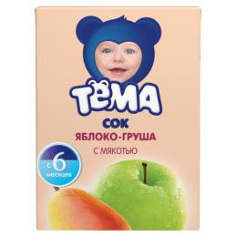 """Тема сок """"Яблоко-груша"""" с 5 месяцев, 200 мл"""