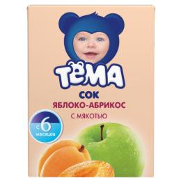 """Тема сок """"Яблоко-абрикос"""" с 5 месяцев, 200 мл"""