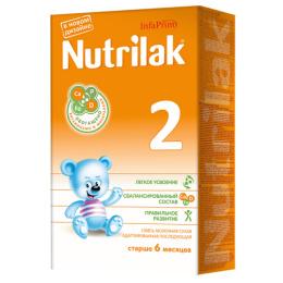 Nutrilak молочная смесь 2 с 6 месяцев, 350 г