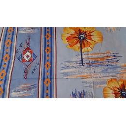 """Камышинский Текстиль комплект постельного белья """"Цветы"""" 1.5 спальное, голубое, наволочки 70х70 см"""