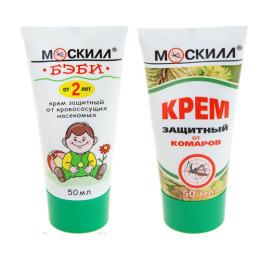 """Москилл крем защитный 50 мл + крем от комаров """"Бэби"""" детский с 2 лет, 50 мл"""