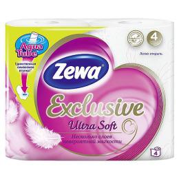 """Zewa бумага туалетная """"Ultra Soft"""" 4-ех слойная, 4 шт"""