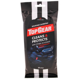 "Top Gear влажные салфетки ""Clean&Protects"", 25 шт"